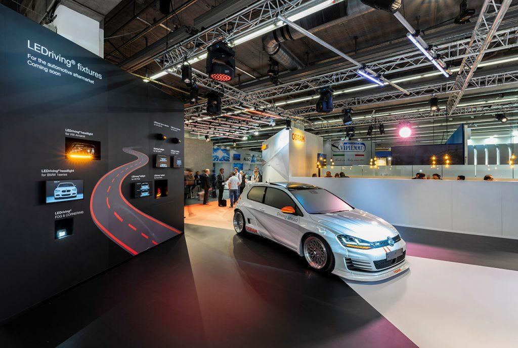 Aufnahme des OSRAM Messestandes von der AUTOMECHANIKA 2018 in Frankfurt am Main