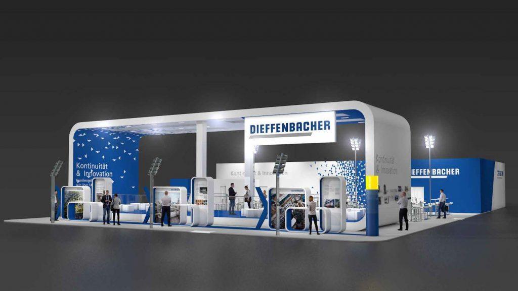 Aufnahme des Diffenbacher GmbH Messestandes von der LIGNA 2017 in Hannover