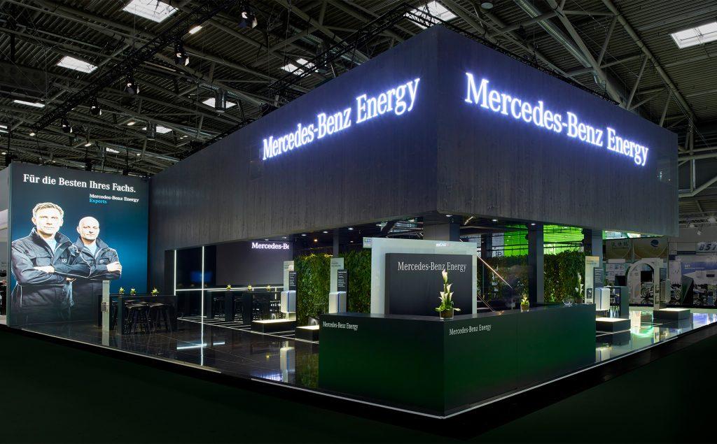 Messestand Mercedes Benz Energy / Accumotive - adm Messebau Neufinsing